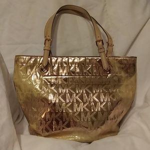 Michael Kors Gold Metallic Purse